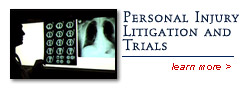 Personal Injury Litigation and Trials - Hubert Law Office